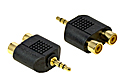 3.5mm Stereo Jack Plug to Twin RCA Sockets