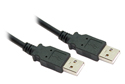 1M USB 2.0 A Male to A Male Cable (Black)
