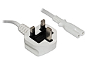 1M Figure 8 Mains Power Cable - White