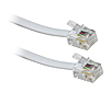 10M - ADSL RJ11 Broadband Cable (White)