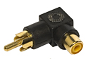 RCA Phono Male to Female Right Angle Adaptor - Black