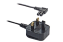 1.9M Figure 8 Mains Power Cable - Right angled / Black