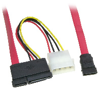 Serial ATA SATA Data Cable & Power Adaptor