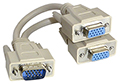 2 Way SVGA Monitor Y Splitter Cable