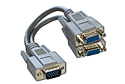 2 Way SVGA Monitor Y Splitter Cable - Fully Wired