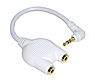 3.5mm Stereo Splitter Cable (White)
