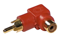RCA Phono Male to Female Right Angle Adaptor - Red