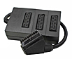 3 Way Scart Splitter Box - Black