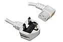 2M IEC Mains Power Cable - Right Angled (White)