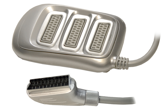 3 Way Scart Splitter Box - Silver
