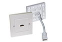 HDMI Faceplate Wall Socket - INTEGRATED STUB CABLE