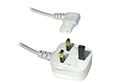 1.9M Figure 8 Mains Power Cable - Right angled / White