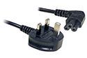 1.8M Clover C5 Mains Power Cable - Right Angled